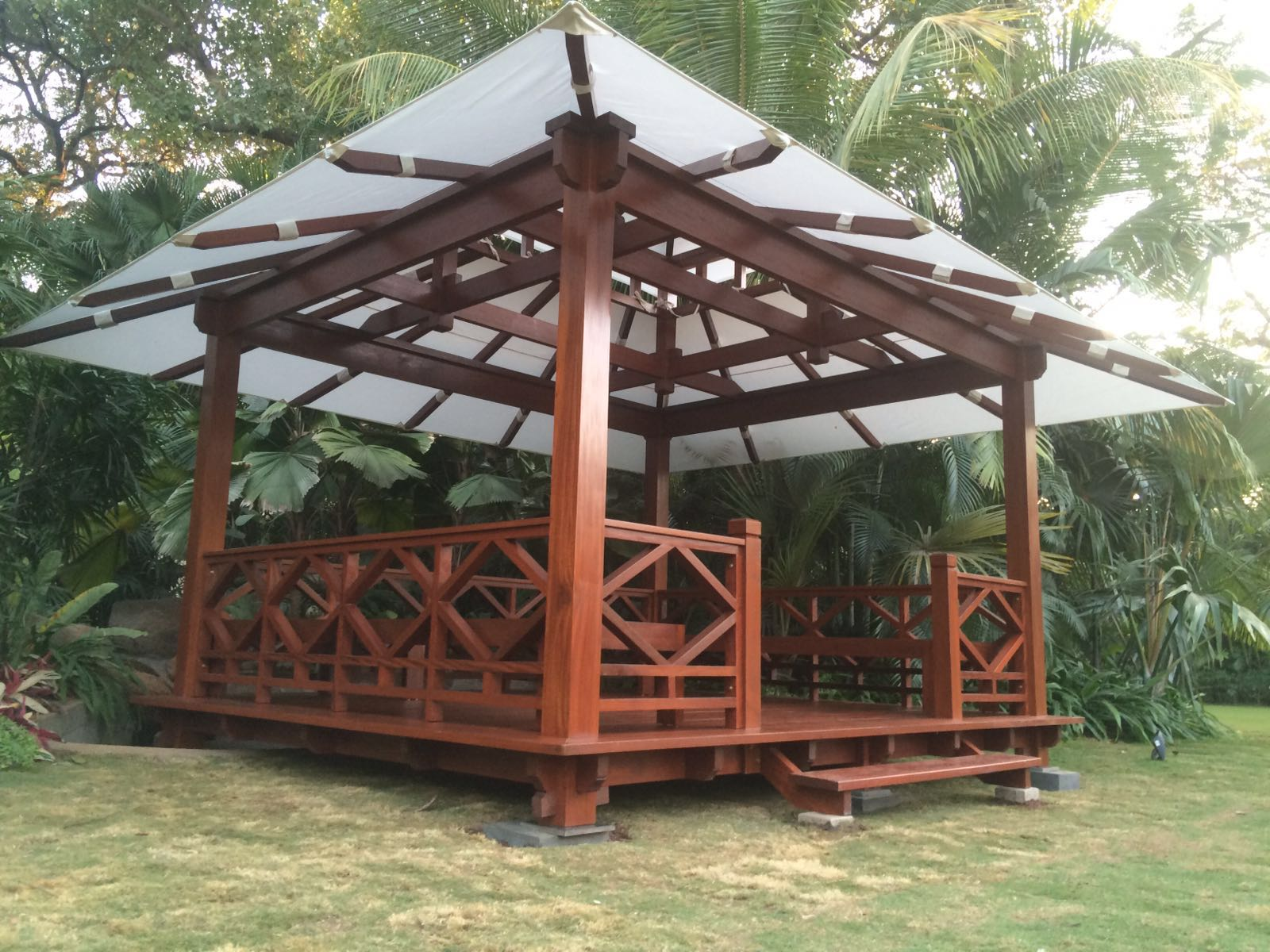 Roof types used bali prefab house pavilion villa and for Prefab roof